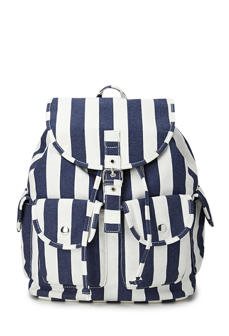 Cool Girl Striped Backpack | FOREVER21 Just throw it in the bag #F21FreeSpirit #Accessories #Stripes
