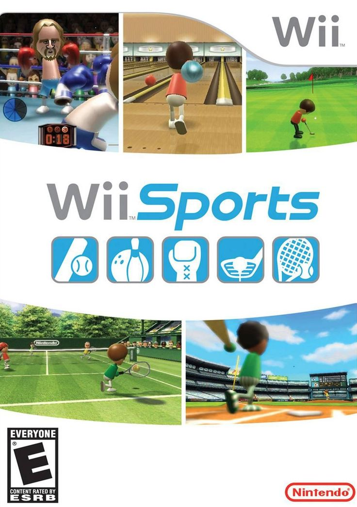 Wii Sports Nintendo WII Game (Ones that involve swatting, swinging, etc.)
