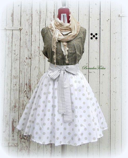 ♪♫Kolová sukně 50 léta - smetanová ♪♫