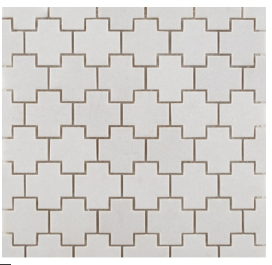 ann sacks crois mosaic tile in white Handmade tiles can be colour coordinated and customized re. shape, texture, pattern, etc. by ceramic design studios