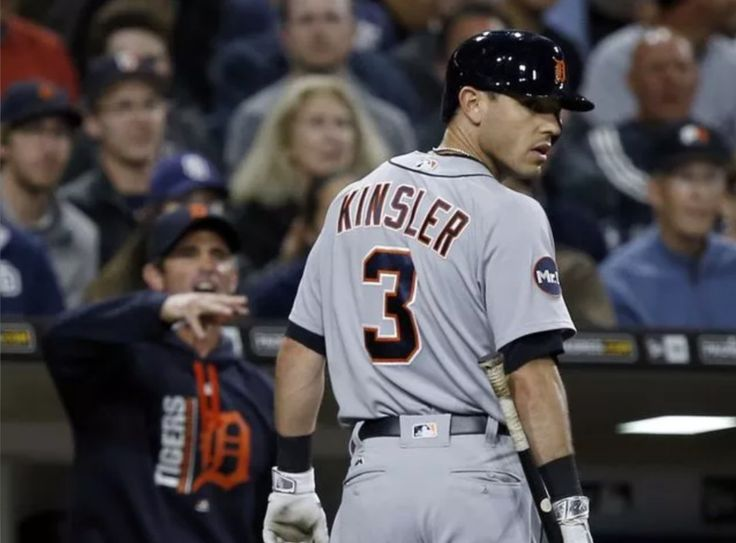Ian Kinsler doesn't agree with the strikeout call. Neither does Brad Ausmus.