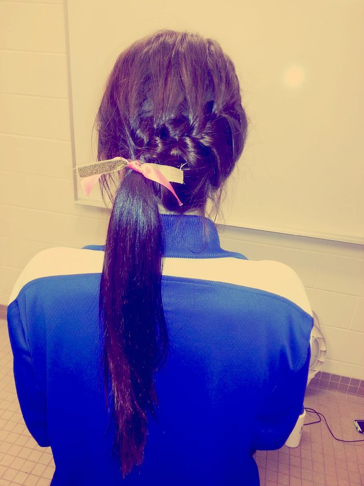 Cute and easy volleyball hair!