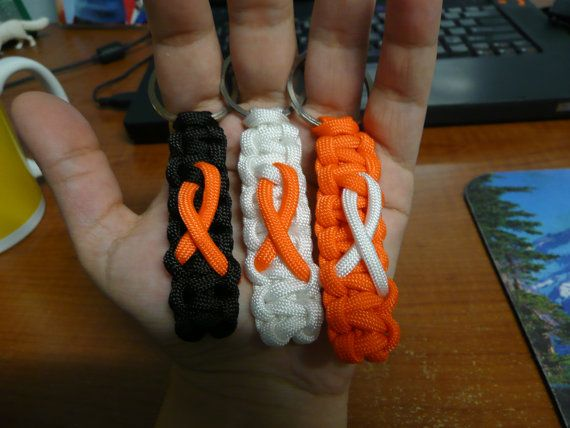 Kidney Cancer Awareness Orange Ribbon Paracord by Protostrategos, $2.99