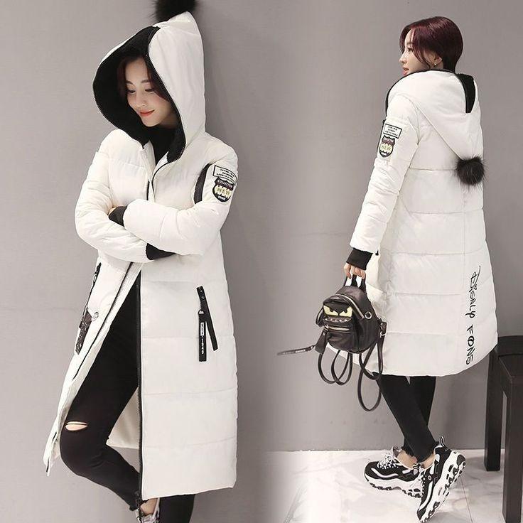 Модный женский повседневный тонкий с подкладкой пальто вниз хлопка зимнее теплое пальто верхняя одежда | Одежда, обувь и аксессуары, Одежда для женщин, Пальто и куртки | eBay!