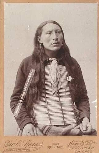 Wounded With Many Arrows. Oglala Sioux. 1889