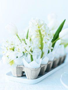 Flower in egg cartons