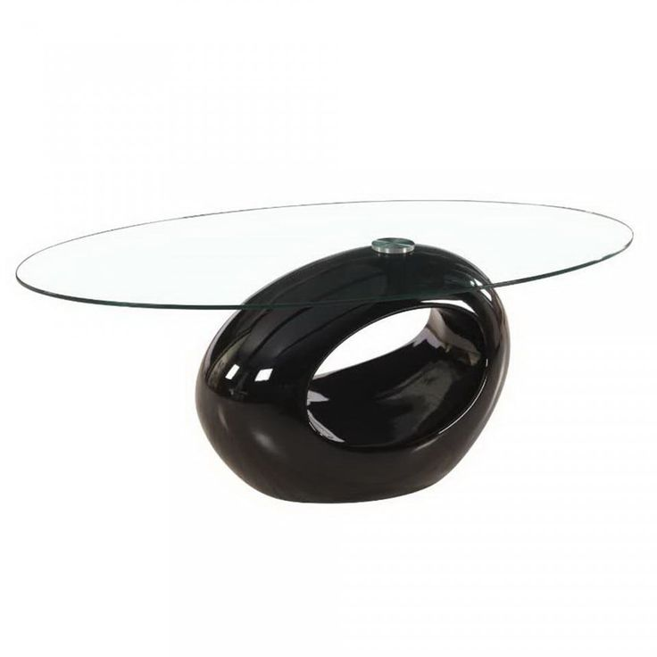 Oval Glass Coffee Table with Red, White and Glossy Base by Fab Glass and Mirror