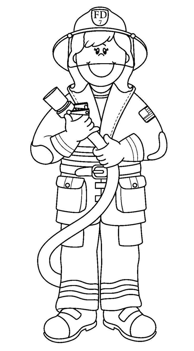 39+ Fire fighter clipart black and white ideas in 2021