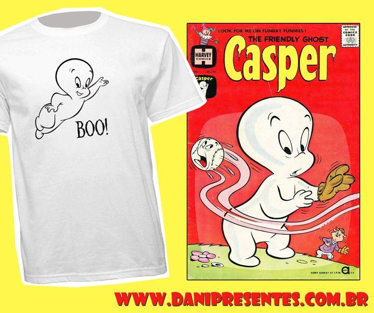 Gasparzinho, o fantasminha camarada! Quem não se lembra dele, que vivia buscando novos amigos e não gosta de assustar ninguém?    https://www.danipresentes.com.br/camiseta-gasparzinho-o-fantasminha-camarada-boo    #danipresentes #desenhoanimado #anos80 #nostalgia #camisetadivertida #gasparzinho