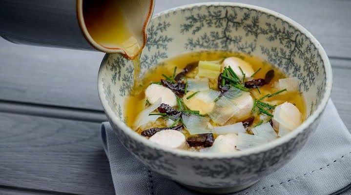 Tom Kitchin recipe for scock-a-leekie. Picture: Marc Millar