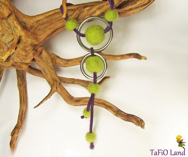 Y-Kette Filz lindgrün tinte von TaFiO Land auf DaWanda.com