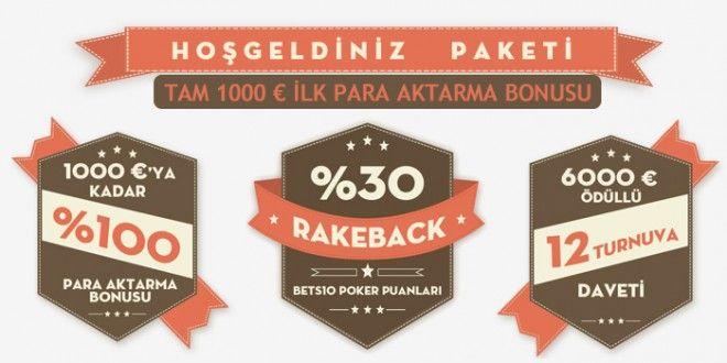 Texas Poker'e hoşgeldin bonusu 1000 €