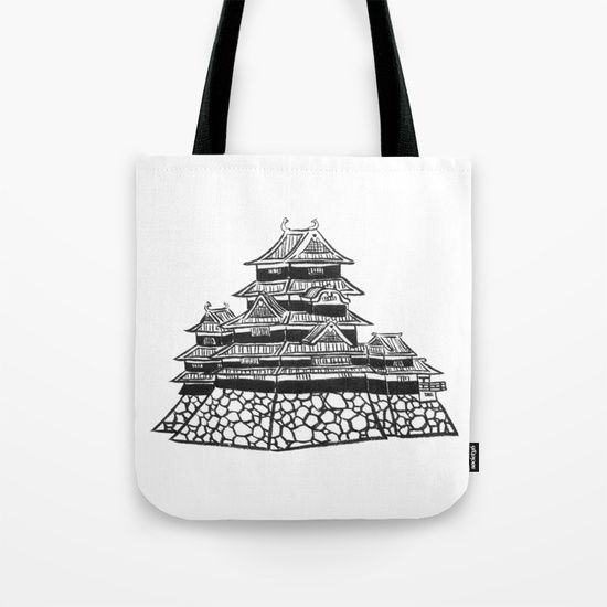The Black Castle  Tote Bag by Shihotana