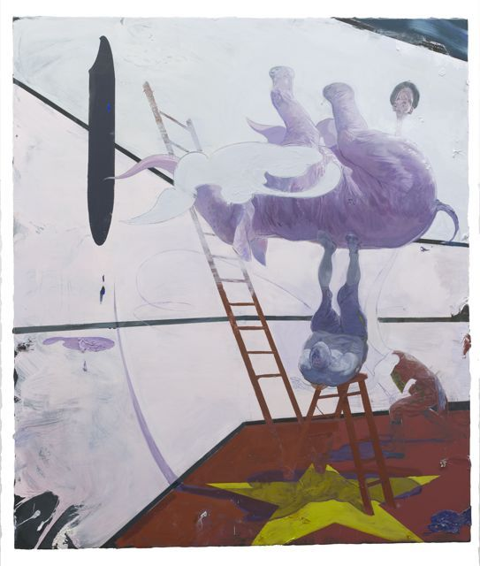 Ruprecht von Kaufmann - The Trick is to Keep Breathing 2013 Acrylics and Oil on Canvas 220 x 190 cm