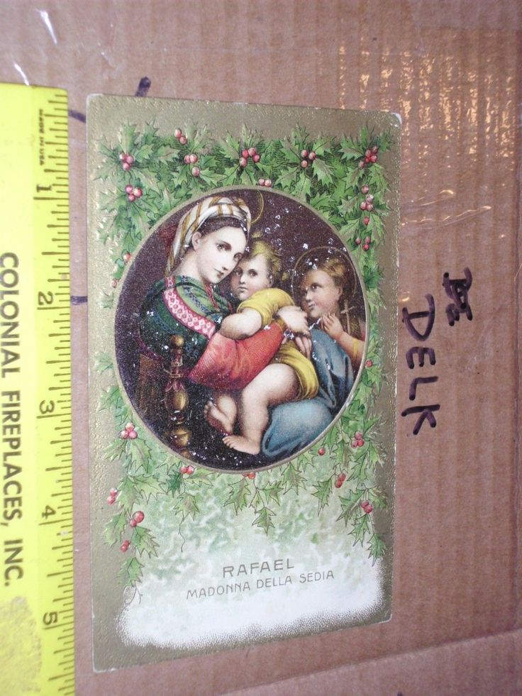 #Antique rafael #madonna #della sedia gold foil embossed christmas germany baby ,  View more on the LINK: http://www.zeppy.io/product/gb/2/282120788988/