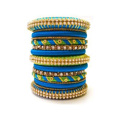 Buy Grand Party Silk thread bangle by OVIS CREATIONS, on Paytm, Price: Rs.800?utm_medium=pintrest