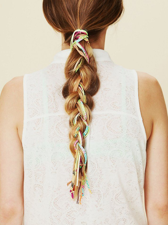 : Braids Hairstyles, Summer Hair, Ribbons, Beautiful, Mixed Thread, Braided Hairstyles, Hair Style, Fabrics Stores, Thread Hair Wraps