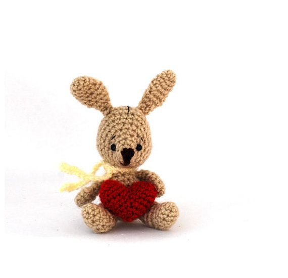 crochet bunny handmade bunny doll tiny door tinyworldbycrochAndi