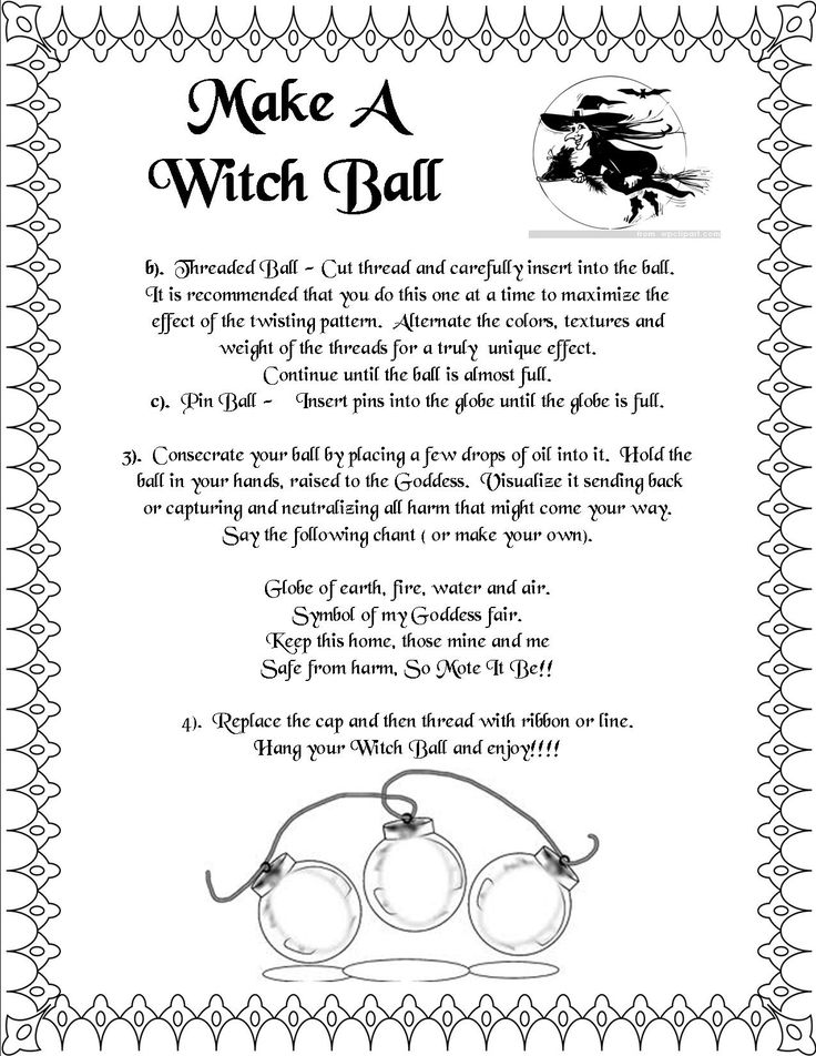 Book of Shadows:  #BOS Make A Witch Ball 2 page.