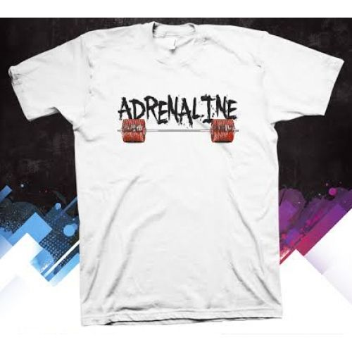Adrenaline performance T shirt. Stay dry while you exercise with our Gilden dry fit apparel. Made of 100% polyester.  #adrenalineparel #gymshirt