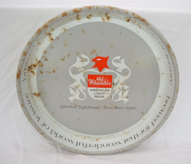 Vintage OLD MILWAUKEE Beer Tray METAL 1960's wisconsin breweriana by ilovevintagestuff on Etsy