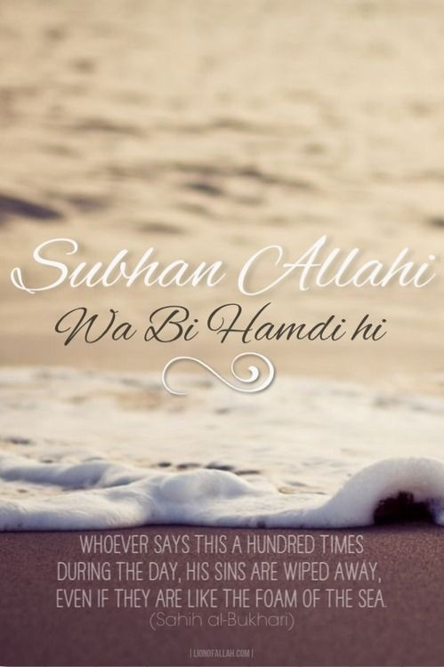 SubhanAllahi wa biHamdihi (Glory be to Allah and Praise Him).  Whoever says (the above) a hundred times during the day, his sins are wiped away, even if they are like the foam of the sea.  Bukhari hadith