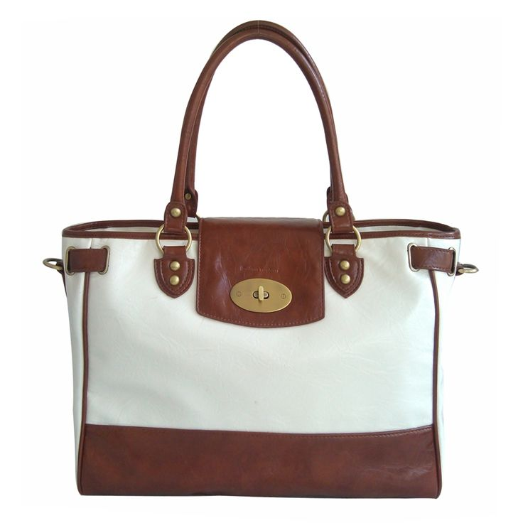 Real leather baby changing handbag