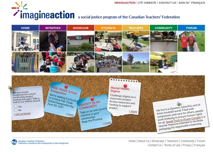 (Free to join!) This unique CTF social justice and youth leadership program empowers teachers and students to create and implement community activities and projects which advance issues related to human rights, social justice, democracy and the environment. Teachers have access to a network of contacts, classroom resources and financial support.