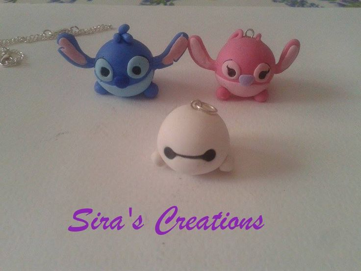 Handmade Stitch ,Angel and baymax polymer clay by Sira's Creations ,soon on etsy :D ,see more on Instagram or our Facebook ;) ,#fimo #polymerclay #clay #diy #handmade #disneyinspired #disneystyle #disneytsumtsum #tsumtsum #tsumtsuminspired #disney #necklace #jewels #stitch #angel #baymax #bighero6 #sirascreations