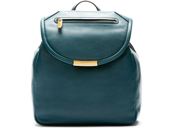 Deep teal leather luna backpack  Marc by Marc Jacobs ssense.com