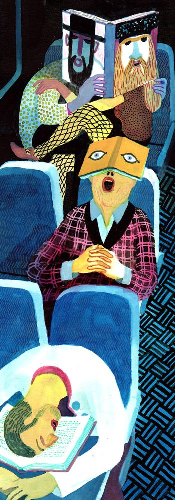 BRECHT EVENS - illustration, people, books, train, journey, travel, airplane