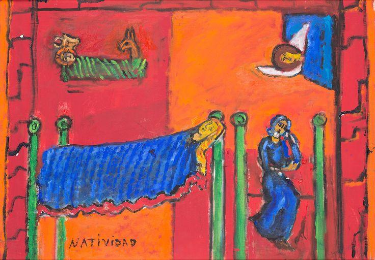 JÓZEF CZAPSKI (1896 - 1993)  NARODZENIE PAŃSKIE (NATIVIDAD), LATA 70. XX W.   olej, płótno / 45 x 65 cm  sygn. p.d.: Józef Czapski