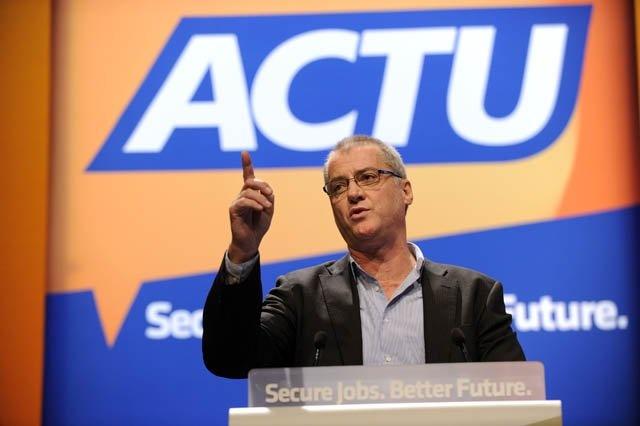 Tony Sheldon, TWU, addresses ACTU Congress 2012.