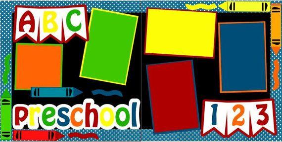 PreSchool 2page 12x12 doityourself scrapbook kit by DownMemoryLane, $8.00