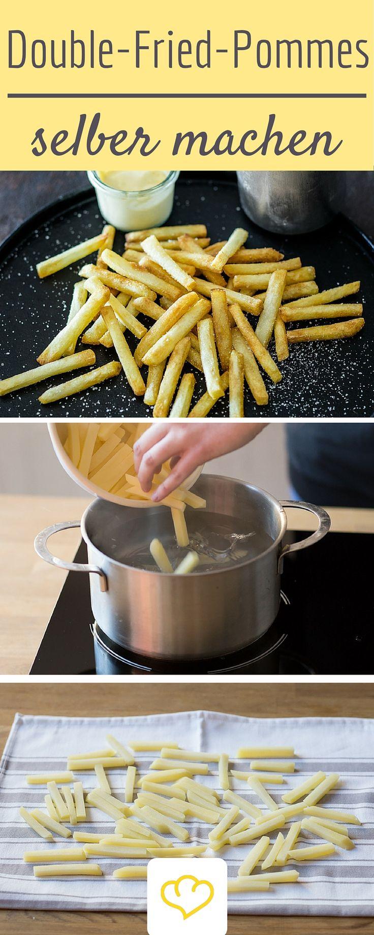 Das beste Pommes Rezept aller Zeiten: dank doppeltem Frittieren werden sie perfekt!