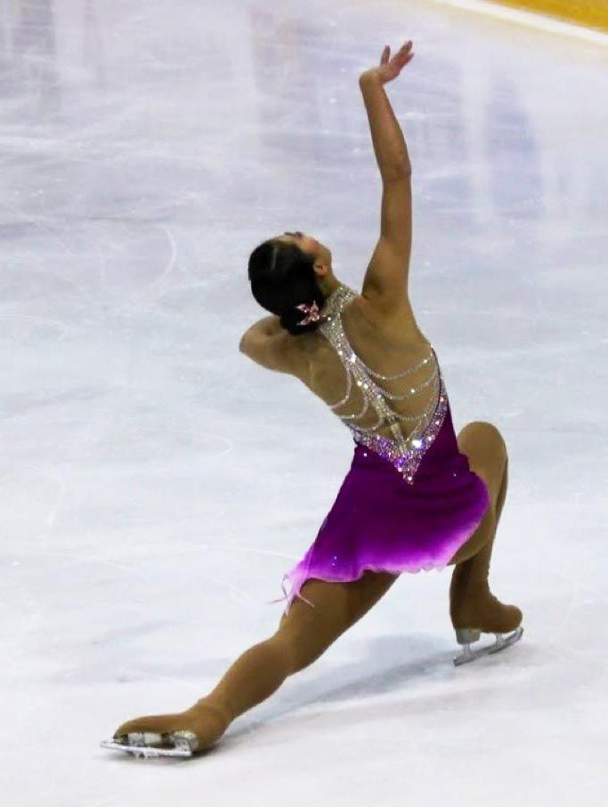 Tania Bass custom skating costume worn at U.S. Figure Skating Championships