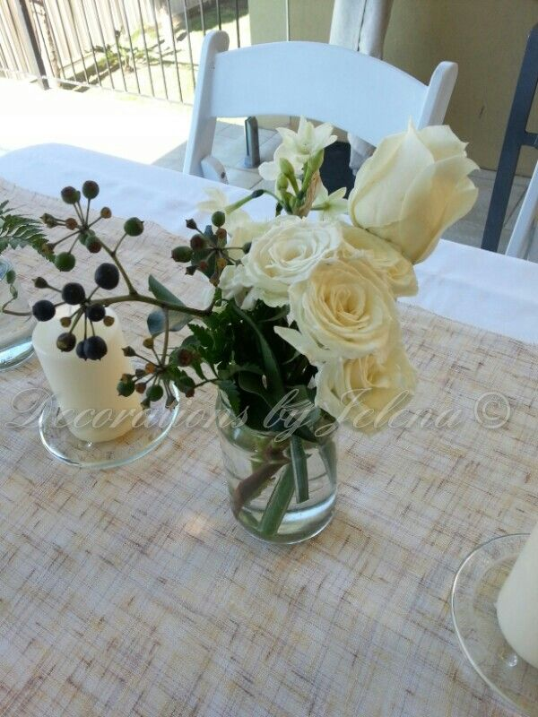 Coastal chic centerpiece