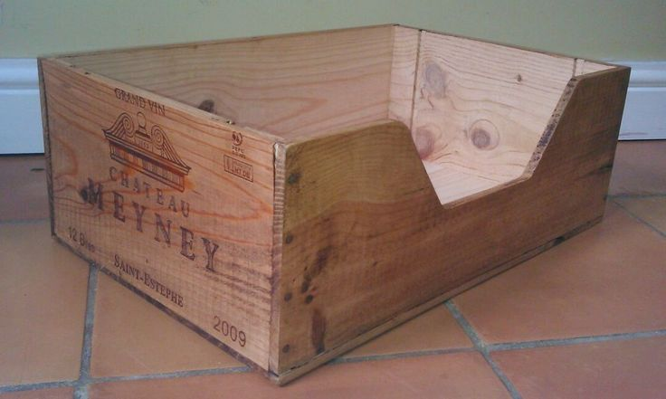 Vintage, Rustic, Wine Box Pet Bed for Cat or Small Dog in Pet Supplies | eBay