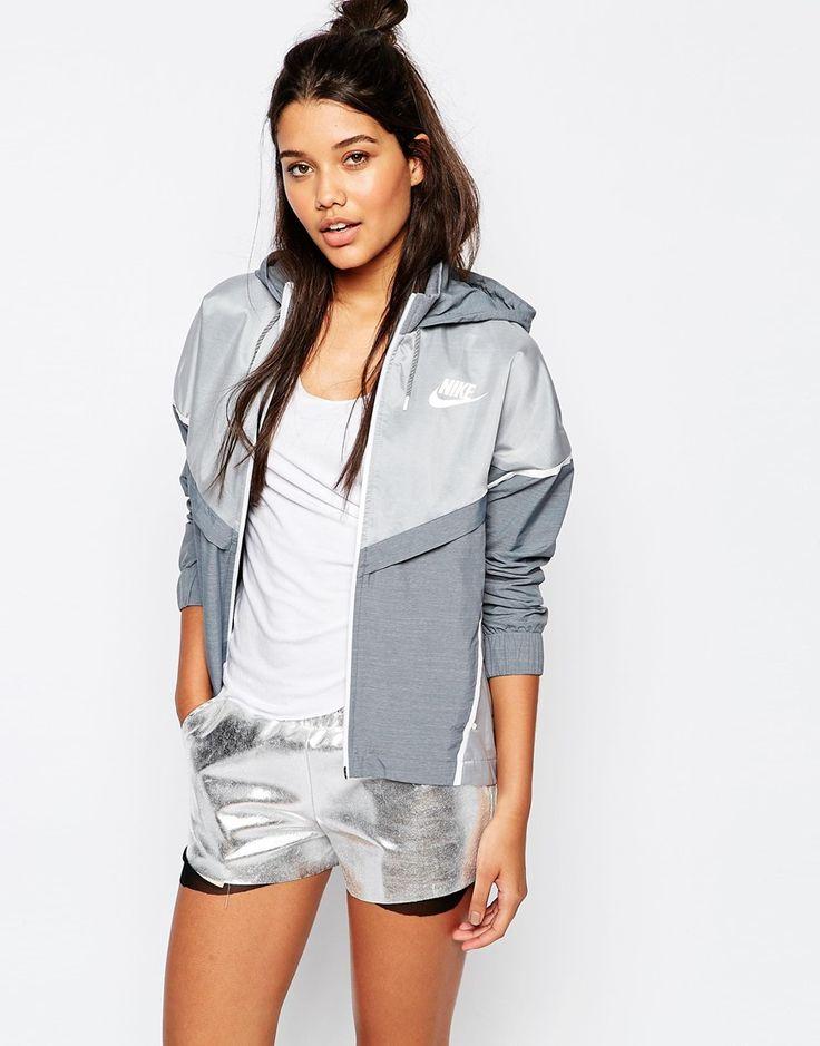 Nike Bonded Zip Front Windbreaker Jacket