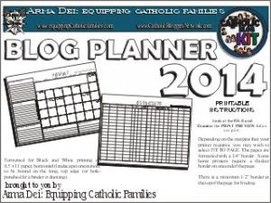 Catholic Blog Planner | Equipping Catholic Families