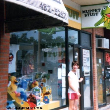 My first visit to the Muppet Stuff store during a trip to Toronto in 1988 with my family, when I was 15.