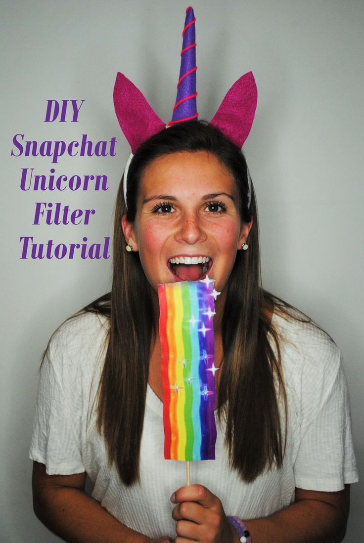 DIY Snapchat Unicorn Filter Tutorial #costume #DIY #snapchat #snapchatfilter #halloween