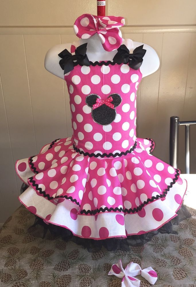 National Pageant Minnie Mouse Casual Wear Party Dress 3 5T | eBay