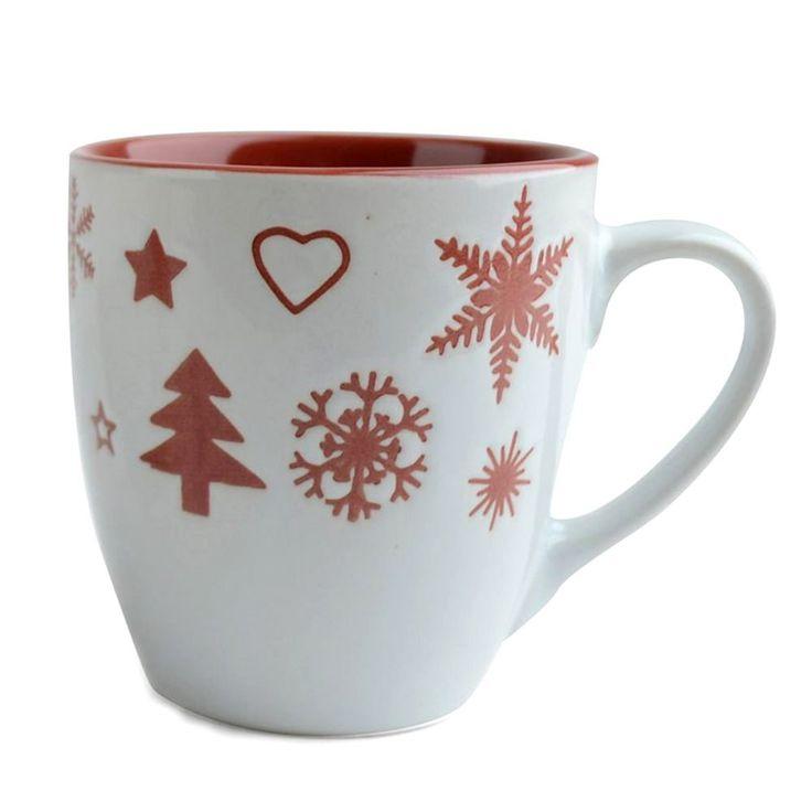 SANTA kubek świąteczny - bordowy - NieMaJakwDomu