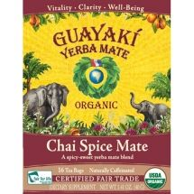 """Yerba Mate - """"strength of coffee, the health benefits of tea, and the euphoria of chocolate"""" all in one beverage. Naturally contains 24 vitamins and minerals, 15 amino acids, abundant antioxidants. Guayaki partners with small farmers and indigenous communities to source mate from the sub-tropical forests of South America. Guayaki drinkers have become a driving force for conservation and community development by paying a fair trade price for rainforest-grown mate."""