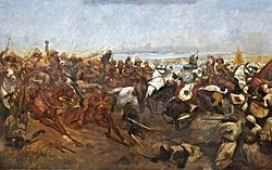 1898: Battle of Omdurman. An army commanded by the British General Sir Herbert Kitchener defeated the army of Abdullah al-Taashi, the successor to the self-proclaimed Mahdi, Muhammad Ahmad. Kitchener was seeking revenge for the death of General Gordon in 1884. (Wikipedia).