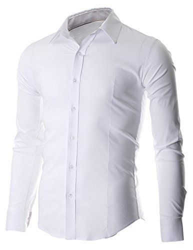 FLATSEVEN Men's Slim Fit Casual Button Down Dress Shirt Long Sleeve (SH600) White, M FLATSEVEN http://www.amazon.com/dp/B00OWXYMCI/ref=cm_sw_r_pi_dp_7yj1ub0N3K7JV