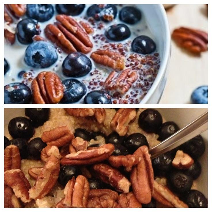 Quinoa Porridge with Blueberries and Pecans | Recipe