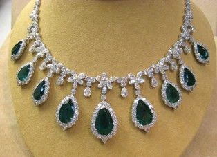 40 carats of diamonds and 45 carats of emeralds