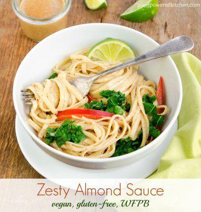 Zesty Raw Almond Sauce Vegan Glutenfree WFPB